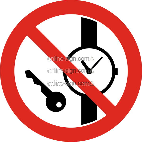 No metal articles or watches