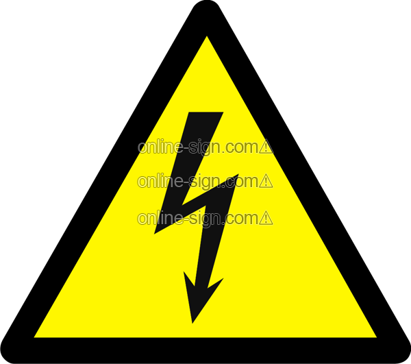 Warning electricity