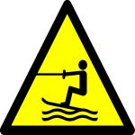 Beware water skiing area