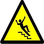 Caution stairs