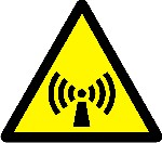 Warning non ionizing radiation