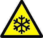 Warning Low temperatures and freezing conditions