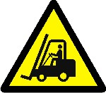 Warning industrial vehicles operating in area