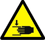 Warning crushing of hands