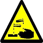 Caution corrosive substance